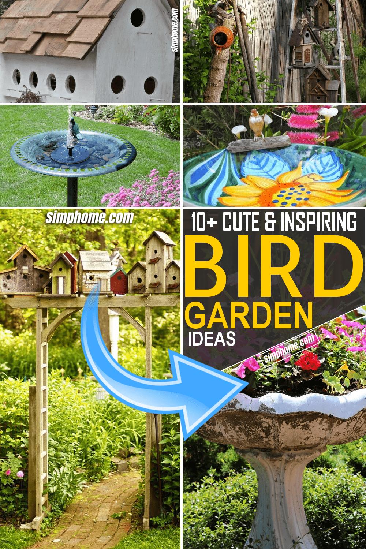 Simphome.com Bird Garden Ideas Featured Pinterest Image