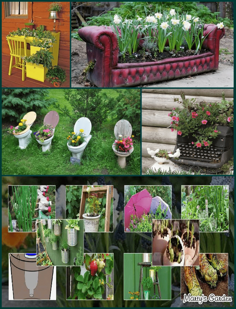 Simphome.com Garden planter ideas from recycled materials and storage