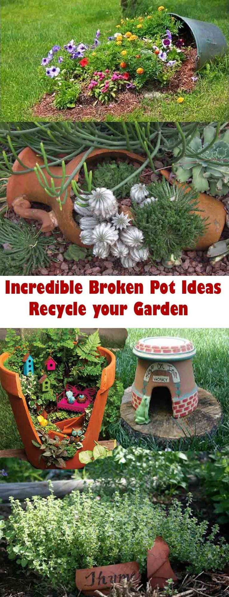 Simphome.com incredible broken pot ideas recycle your garden pertaining to 10 recycle ideas for garden incredible as well as attractive