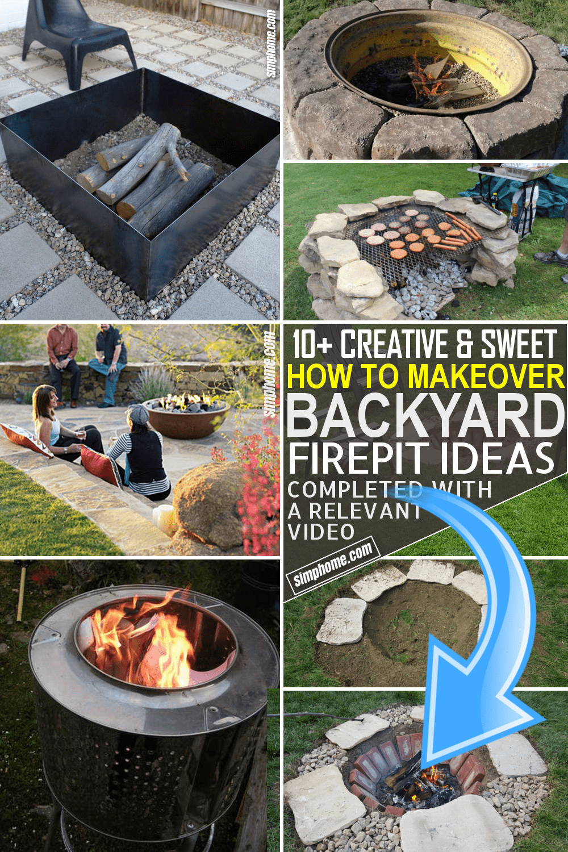 10 Backyard Fire Pit Ideas by Simphome.com