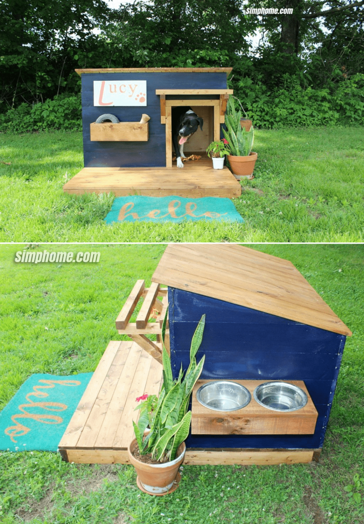10.Modern Dog Kennel By Simphome.com