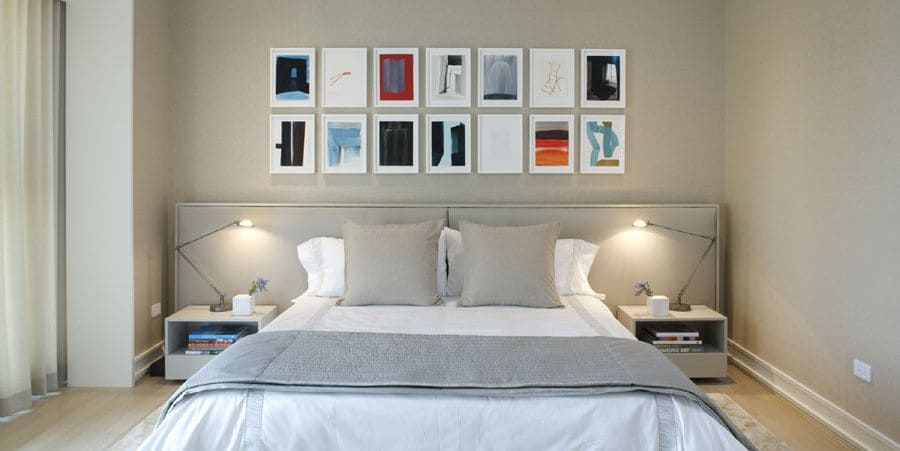2. Turn Your Bedroom into Your Personal Gallery via Simphome.com