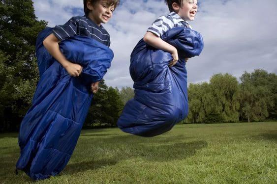 2.Sleeping Bag Race via Simphome.com