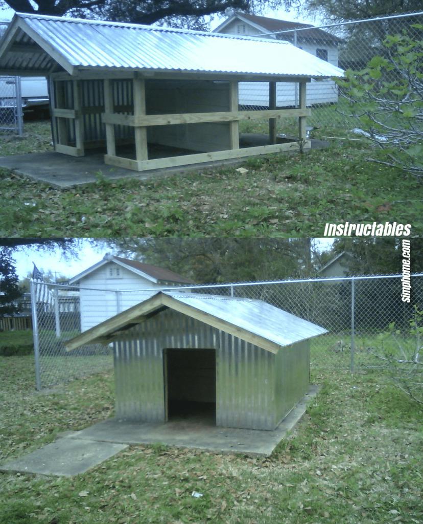 2.Sturdy Duplex Dog Kennel by Simphome.com