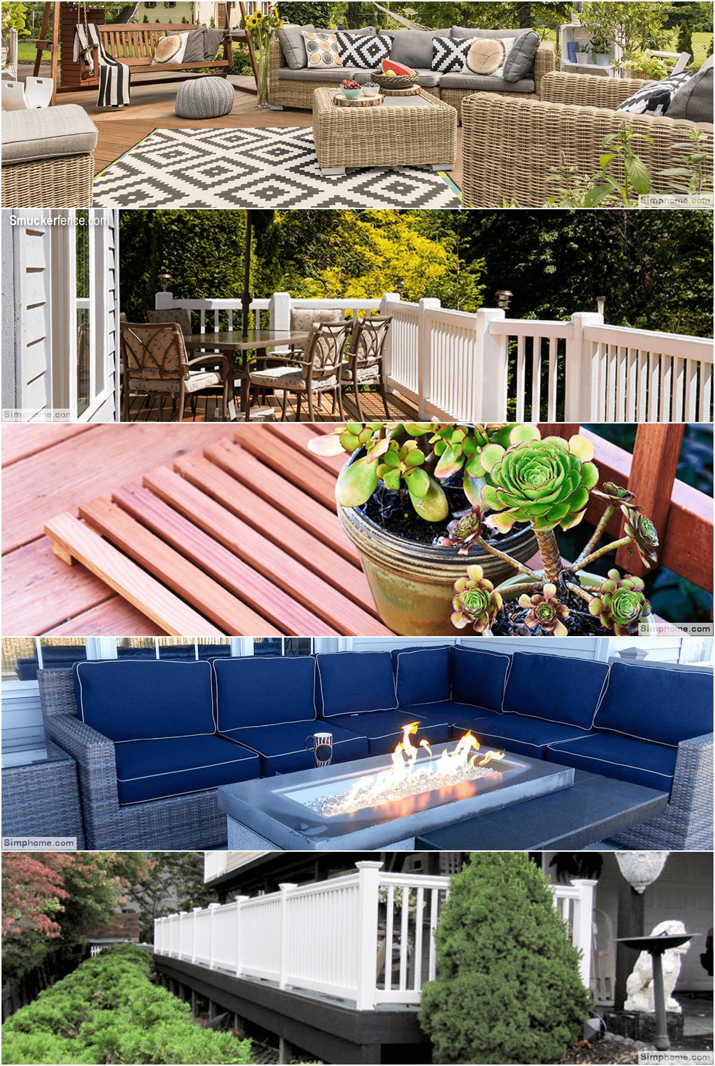 3.Restain or Repaint your Deck via Simphome.com