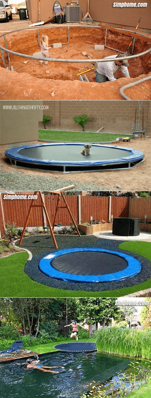 3.Simphome.com Add an In Ground Trampoline and Pool