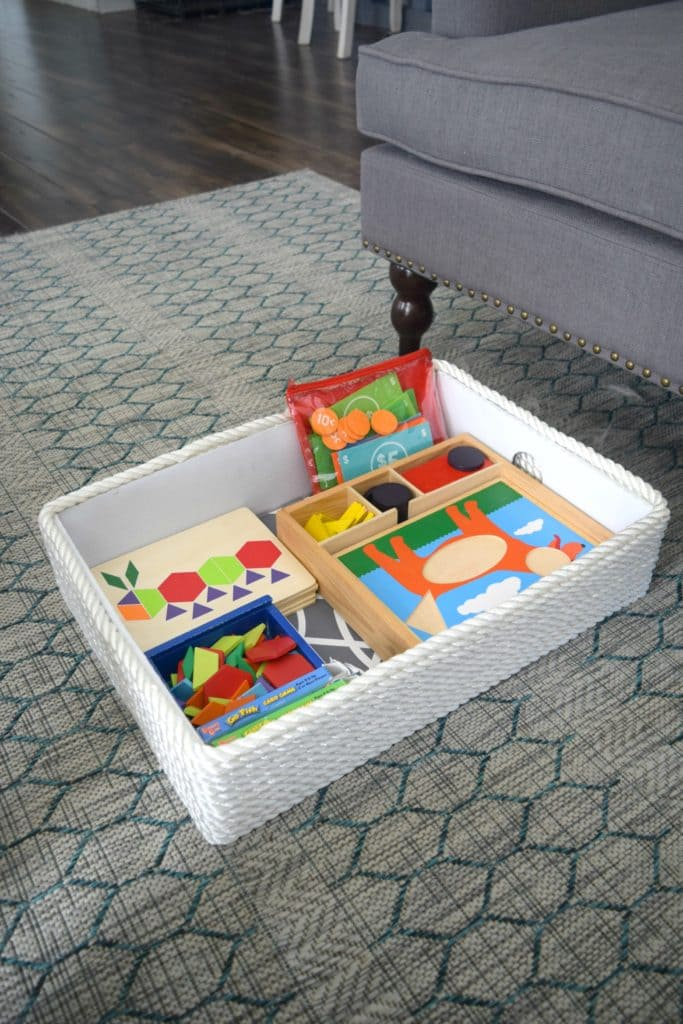 3.Simphome.com Turn Cardboard into Stylish Storage 2