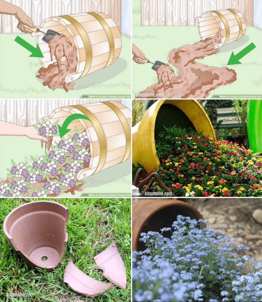 5.Spilled Lavender Planter Project by Simphome.com