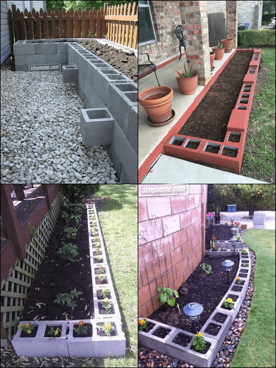 7. Simphome.com Cinder Block Garden Edging