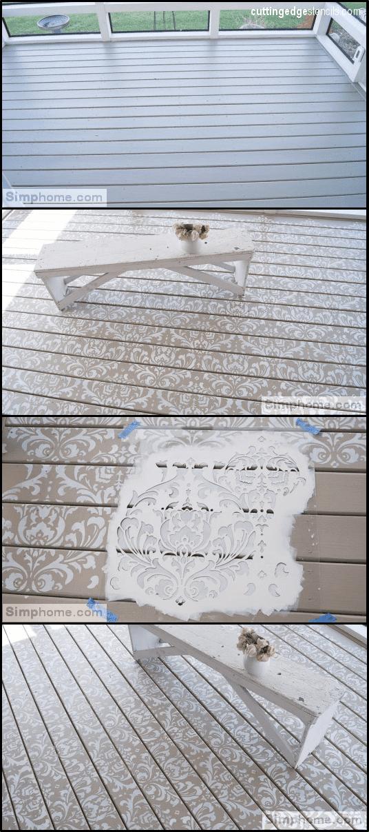 7.Add Pattern with Stencil via Simphome.com