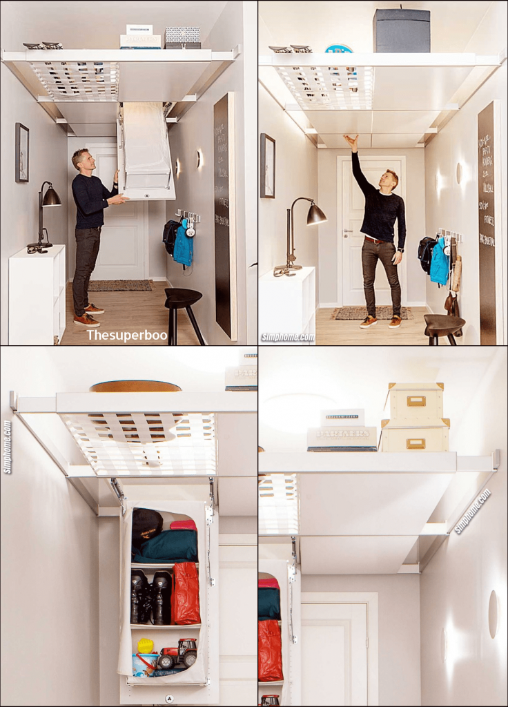7.Tap into Your Ceiling with Storage System by Simphome.com