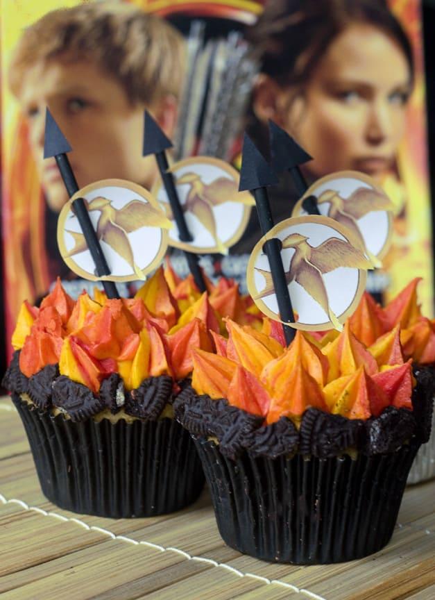 8.Flame Cupcakes idea via Simphome.com