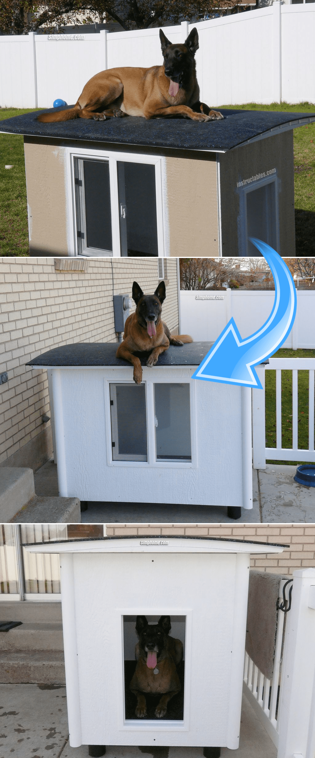 8.Knock Down Dog Kennel by Simphome.com