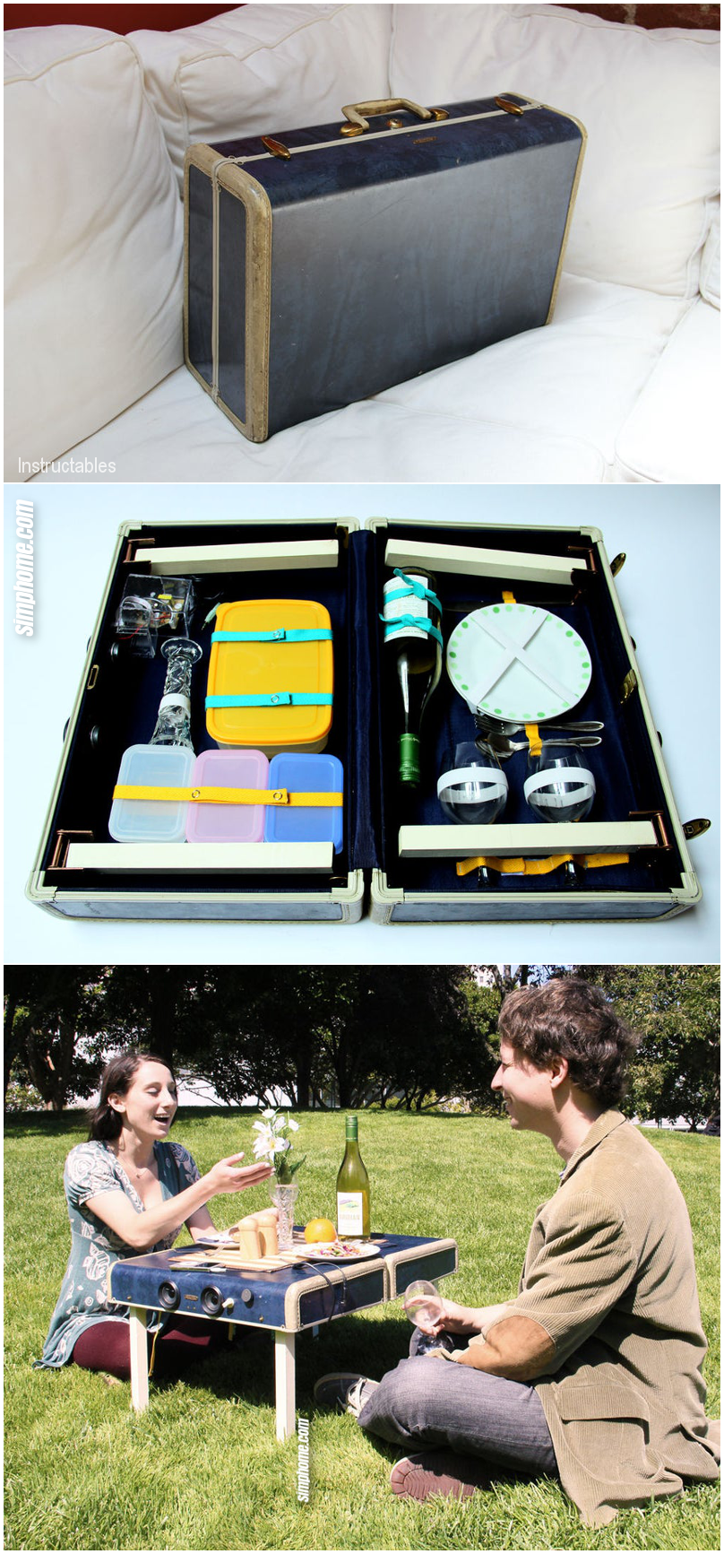 9.A Romantic Picnic With Portable luggage By Simphome.com