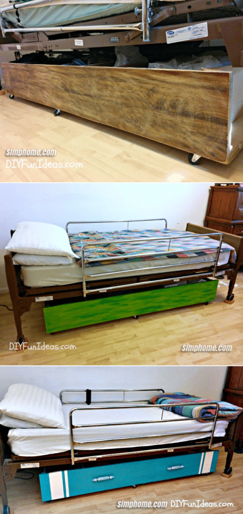9.Simphome.com Turn a Book Shelf into an Under Bed Storage