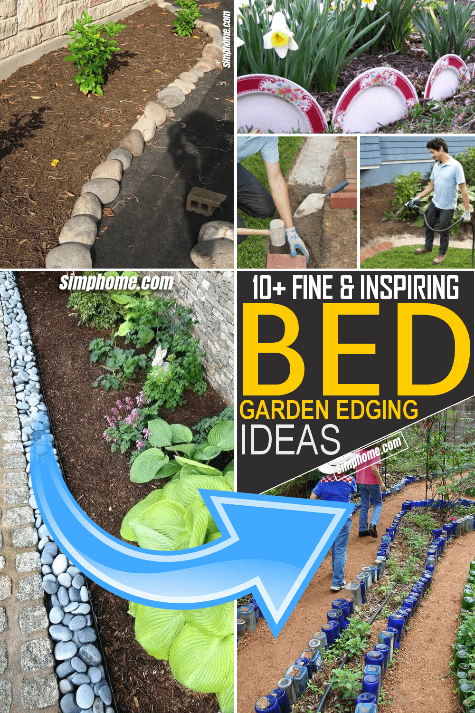Simphome.com 10 Cheap Bed Garden Edging Ideas