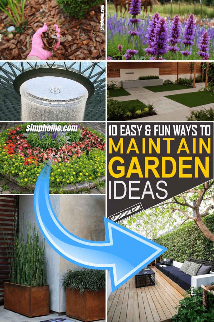 Simphome.com 10 Easy to Maintain Garden Ideas Poster Featured Image