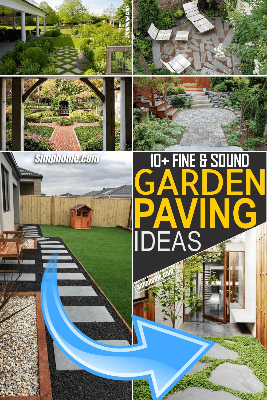 Simphome.com 10 Garden Paving Ideas Featured Image