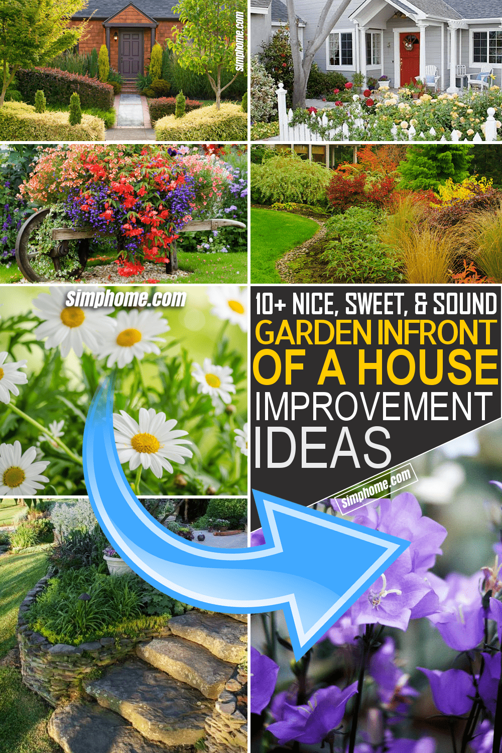 Simphome.com 10 Gardens in front of the House Ideas Featured Image