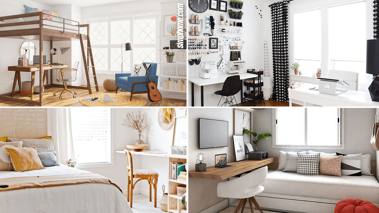 Simphome.com 10 Small Bedroom Office Ideas