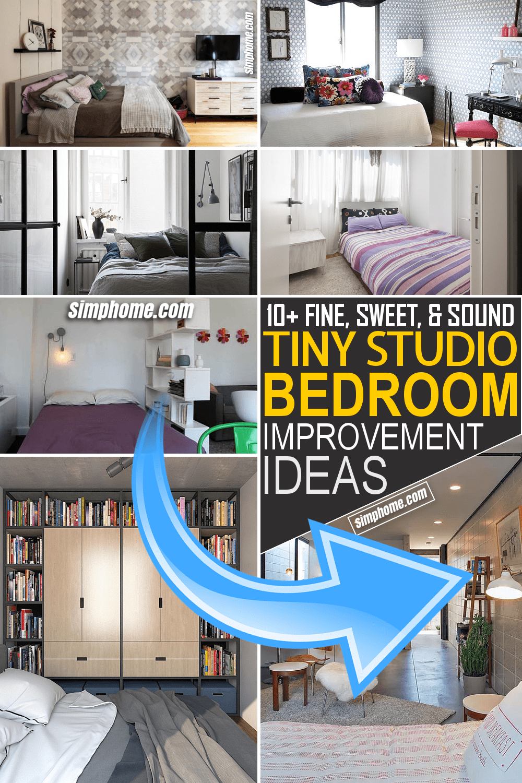 Simphome.com 10 tiny studio bedroom improvement ideas Featured Pinterest Image