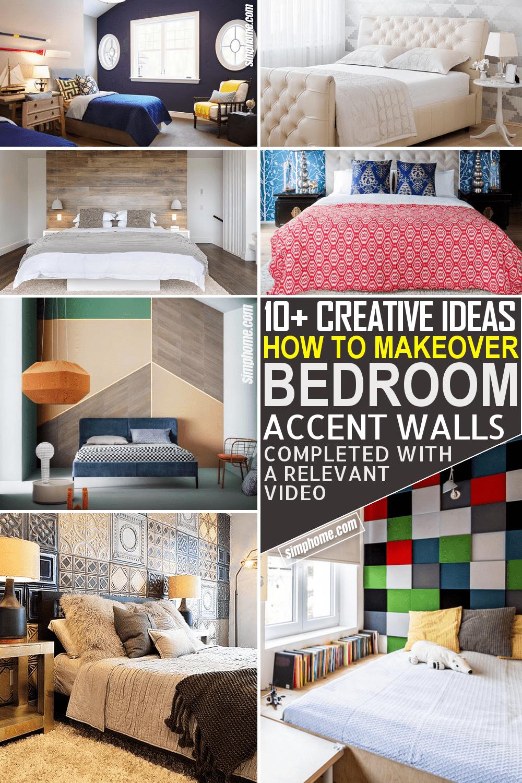 10 Bedroom Accent Wall Ideas via Simphome.com