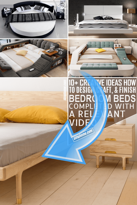 10 Bedroom Bed Ideas via Simphome.com Featured Image