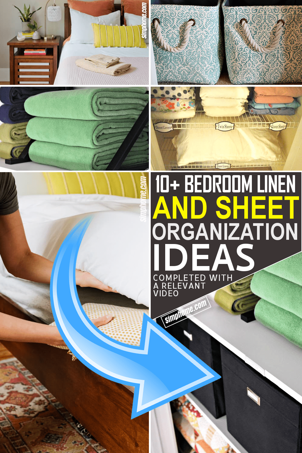 10 Bedroom Linen and Sheet Organization Ideas By Simphome.comFeatured image