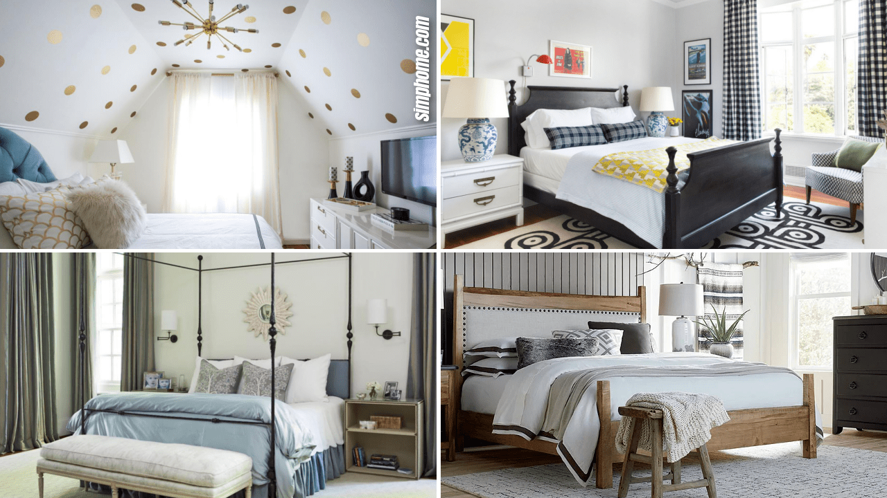 10 Small Bedroom Arrangement Ideas by Simphome.com