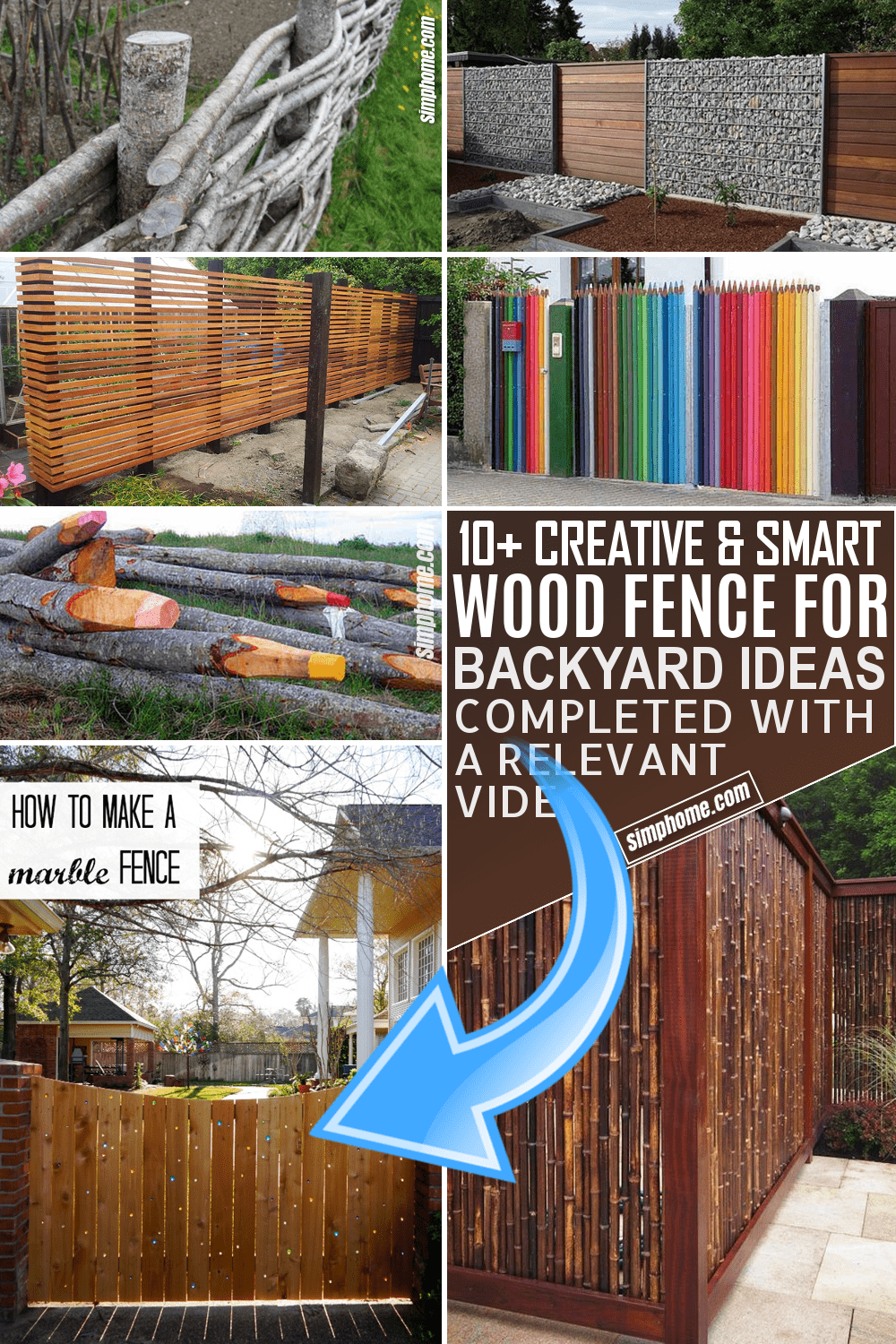 10 Wooden Fence for Backyard Ideas by Simphome.com