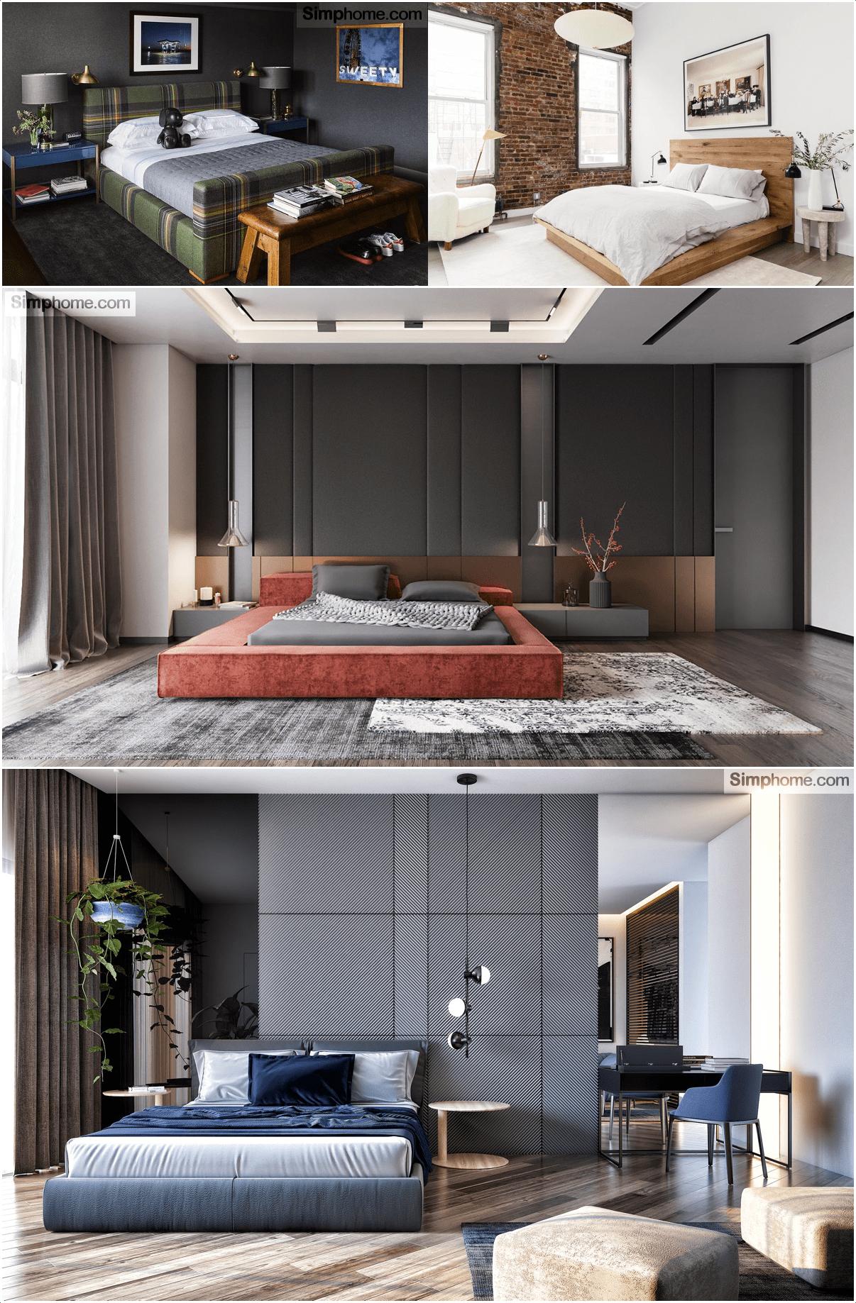 10.Low Level Red Velvet Platform Bed By Simphome.com