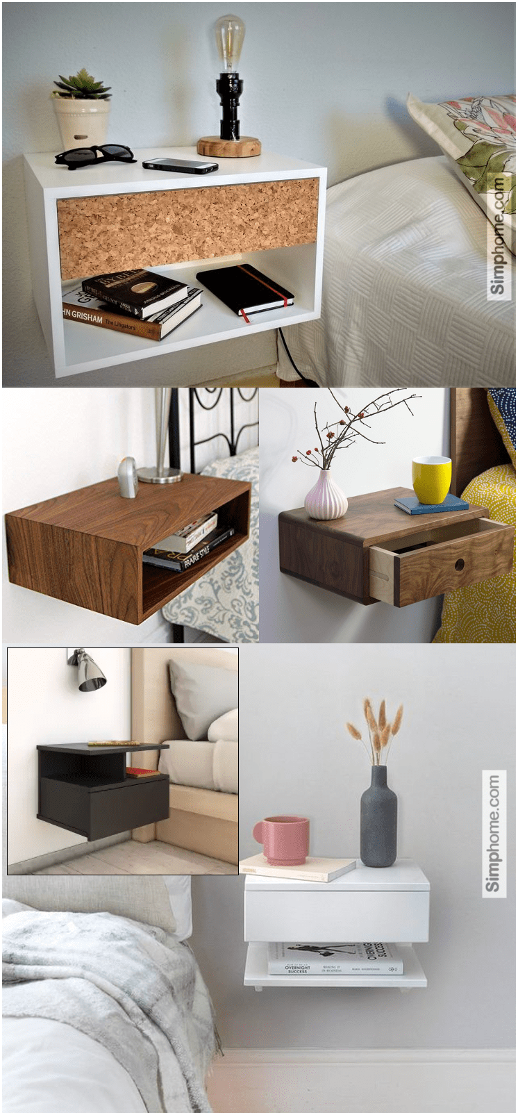2.Floating Nightstand Ideas by Simphome.com