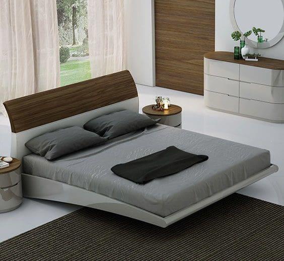 4.Stylish Bedroom Bed Idea via Simphome.com