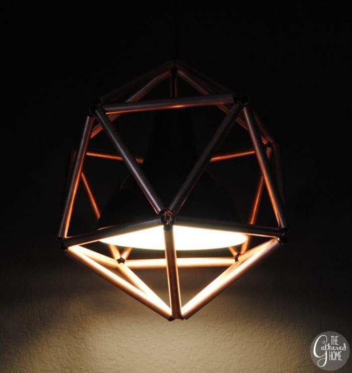 5.DIY Copper Pendant Light by Simphome.com