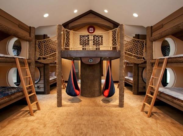 6.Bedroom Bed Ideas for Multiple Kids via Simphome.com