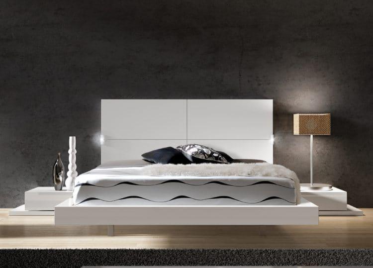 8.Floating Modern Bed via Simphome.com
