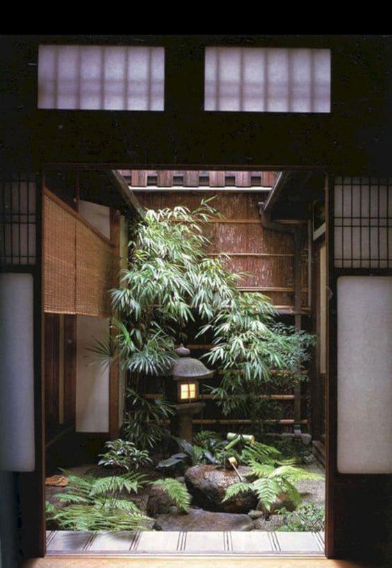 1.Indoor Zen Garden Looking Outside via Simphome.com