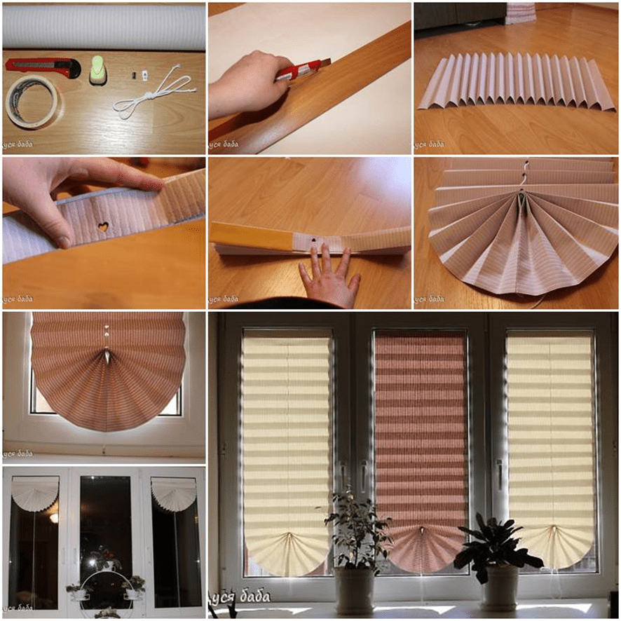 1.Paper Window Blind via Simphome.com