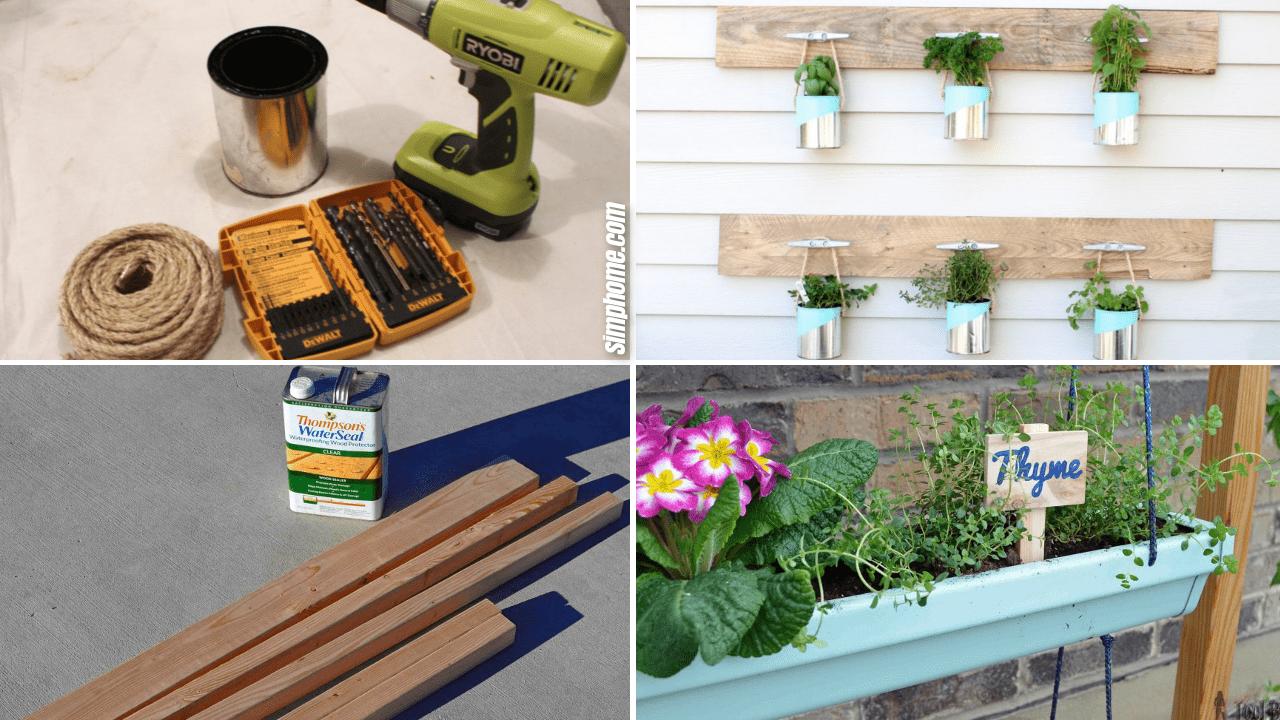10 Backyard Herb Garden Ideas via Simphome.com thumbnail