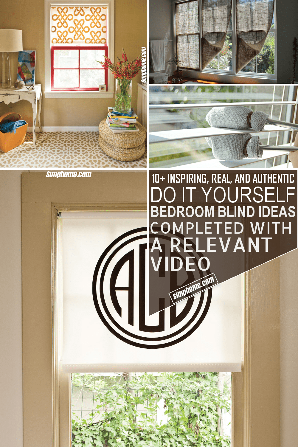 10 DIY Bedroom Blind Ideas via Simphome.com
