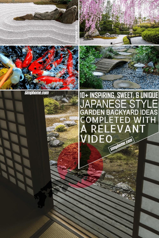 10 Japanese Garden Ideas for Backyard via Simphome.com Featured Image