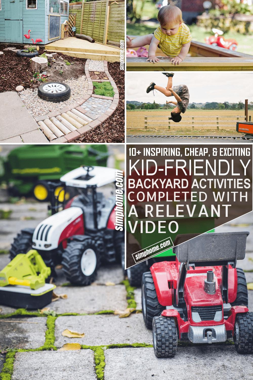10 Kid Friendly Backyard Ideas On a Budget via Simphome.com Featured Image Pinterest