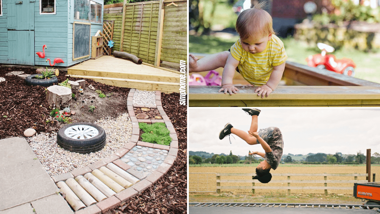 10 Kid Friendly Backyard Ideas On a Budget via Simphome.com thumbnail