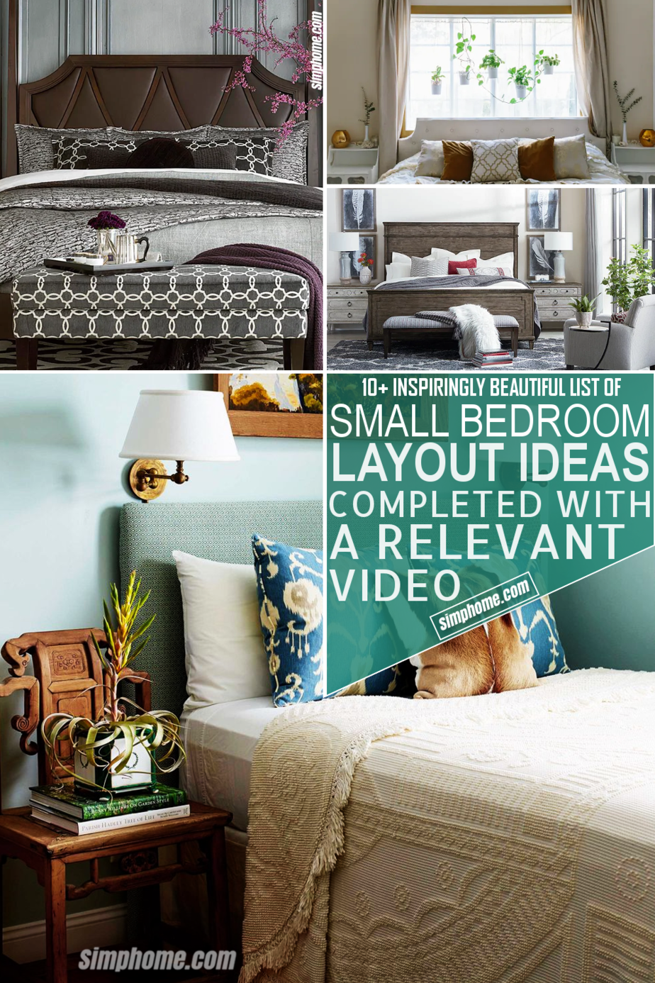 10 Small Bedroom Layout Ideas by Simphome.com