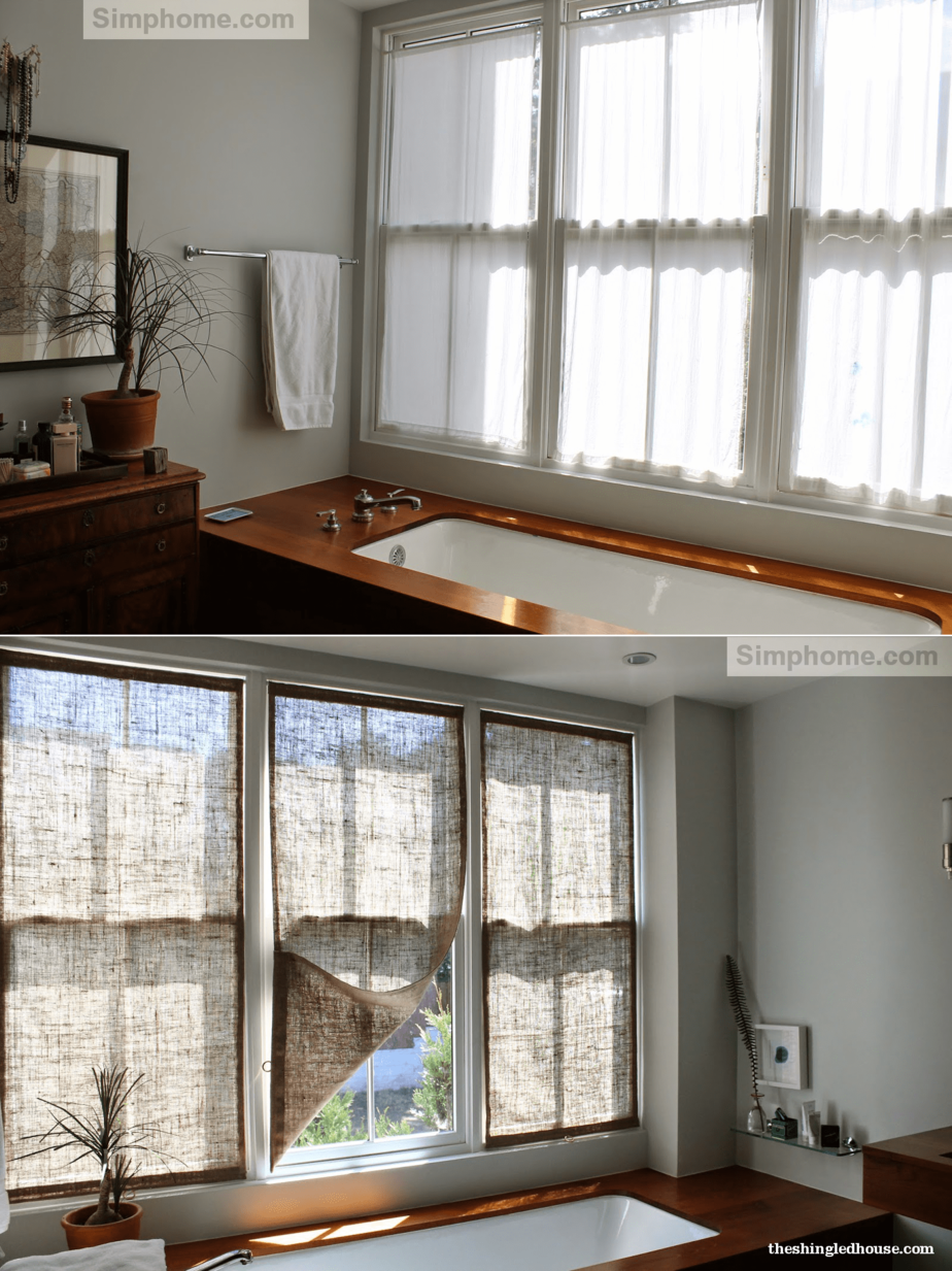 10. Burlap Window Shades via Simphome.com
