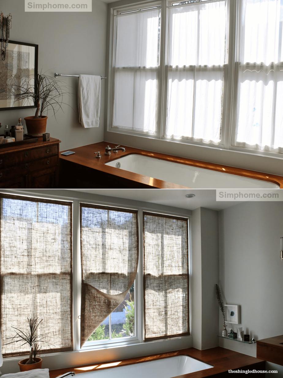 10. Burlap Window Shades via Simphome.com
