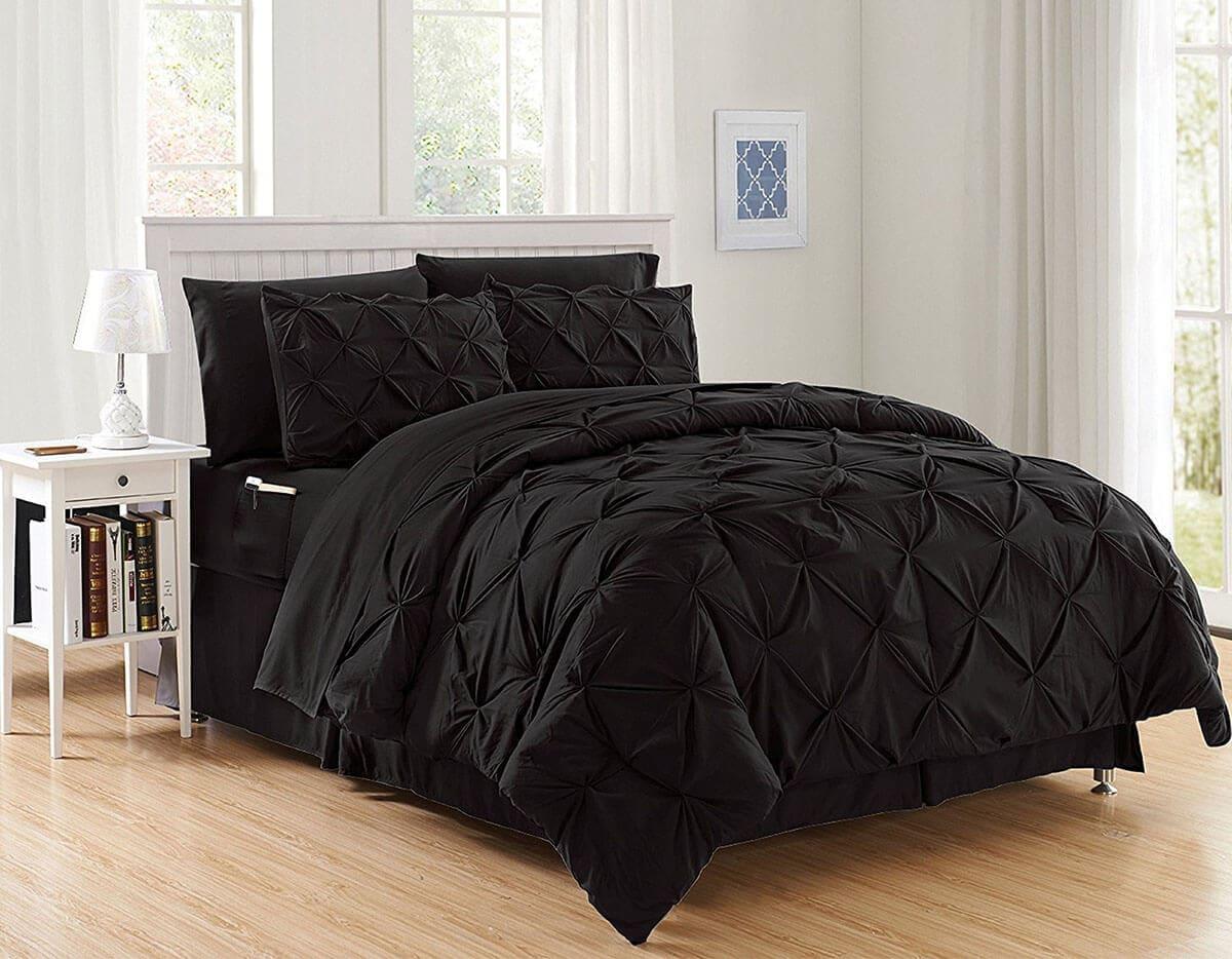 2.All Black Comforter Idea via Simphome.com