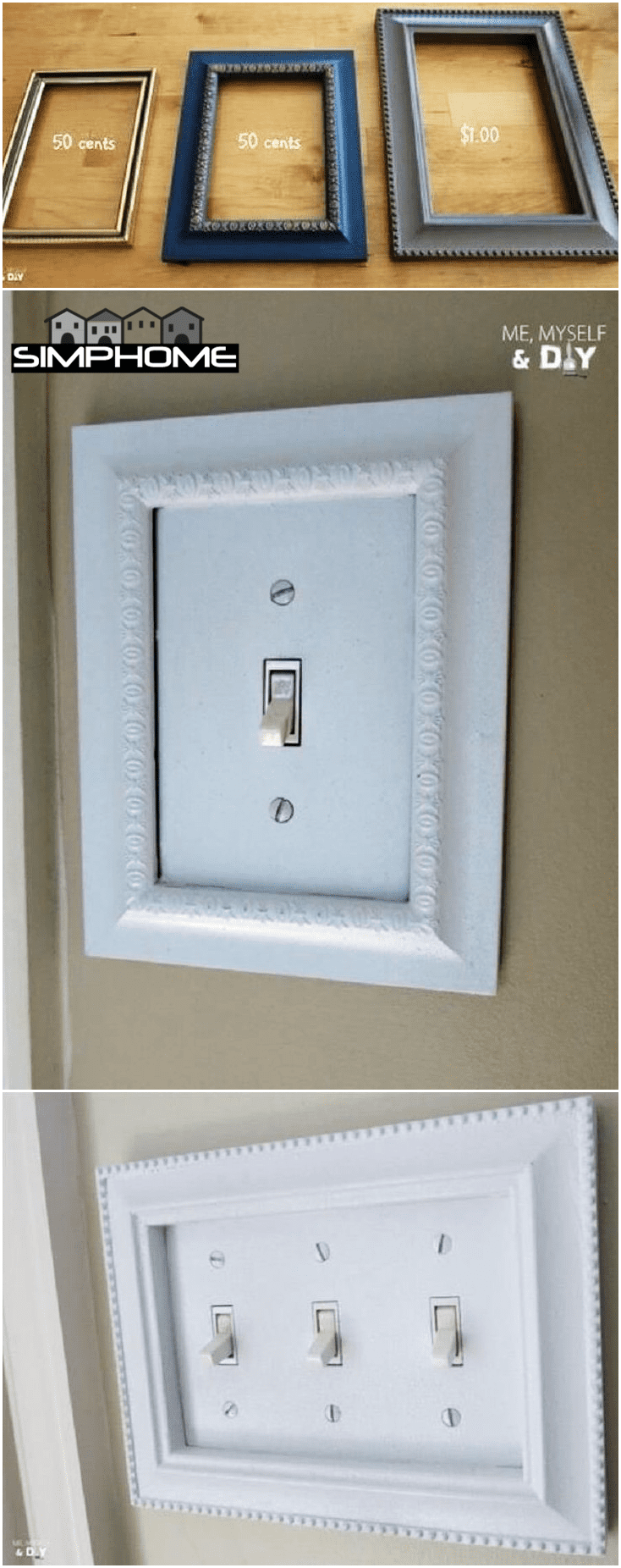 2.Frame the Light Switch via Simphome.com