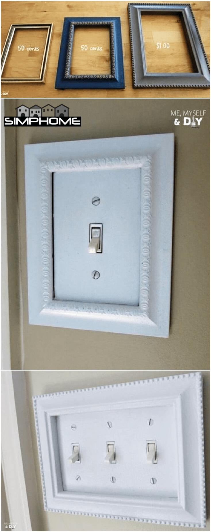 2.Frame the Light Switch via Simphome.com