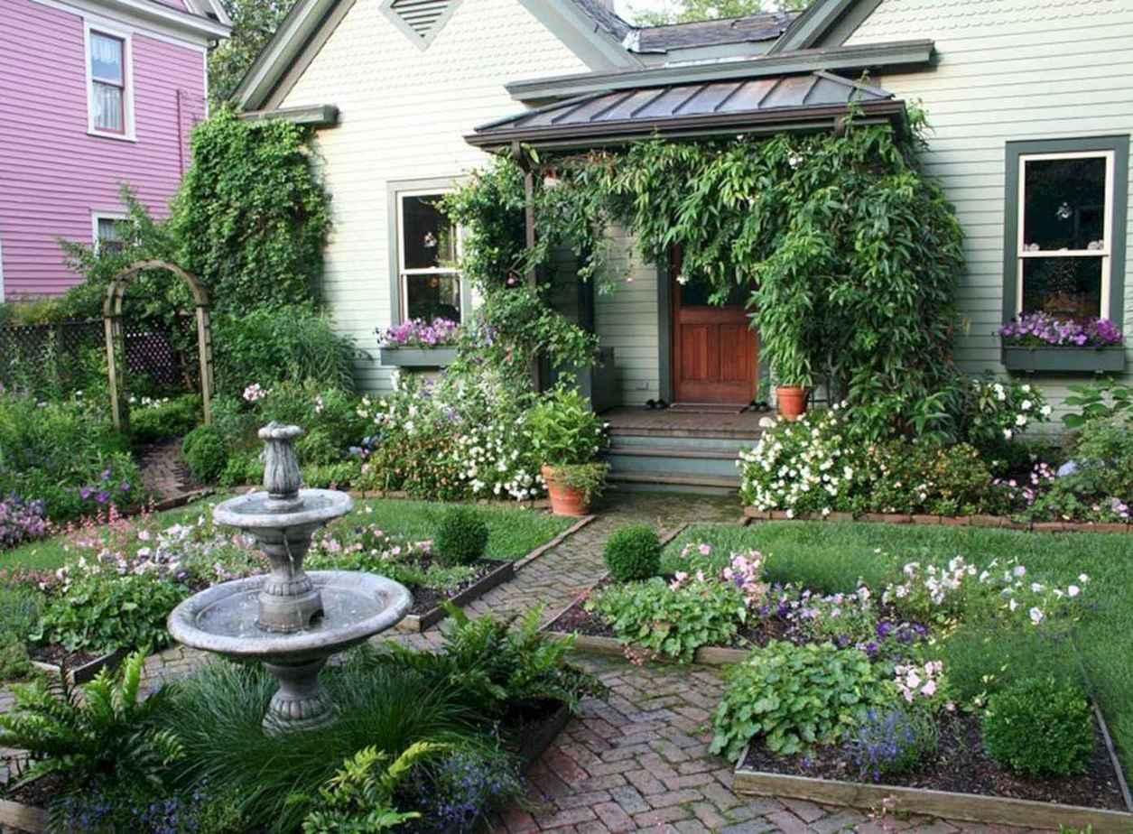 3. Front Yard Cottage Garden Ideas via Simphome.com
